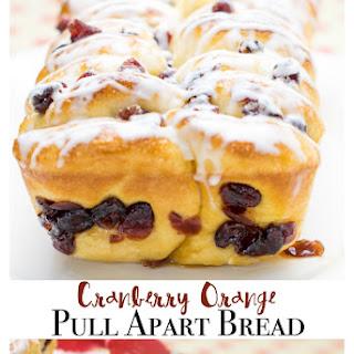 Cranberry Orange Pull Apart Bread
