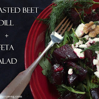 Roasted Beet Salad with Dill and Feta