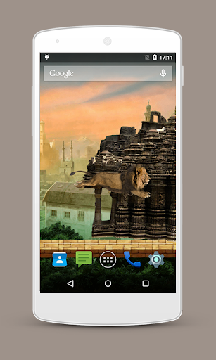Temple Lion Live Wallpaper