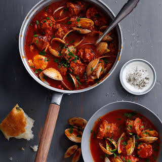 Cataplana Stew with Sausage and Clams.