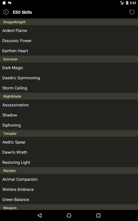 Skill Tree Lookup for ESO- screenshot