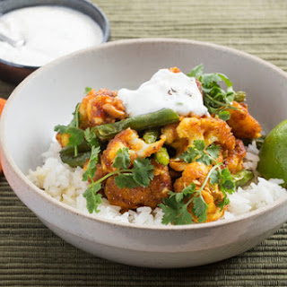 Spiced Cauliflower with Jasmine Rice & Cilantro-Yogurt Sauce Recipe