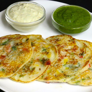 Bread Uttapam, South Indian Snack.