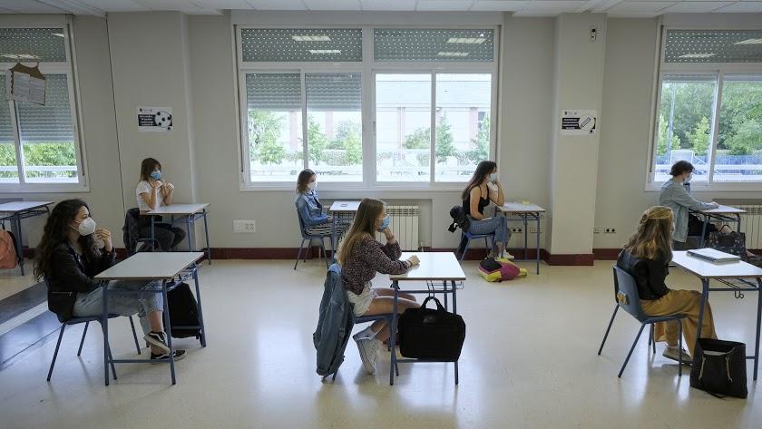 Imagen de los alumnos de Bachillerato en una clase de la Comunidad de Madrid.
