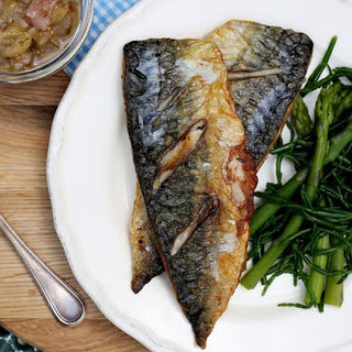 Grilled Mackerel With Gooseberry Relish.