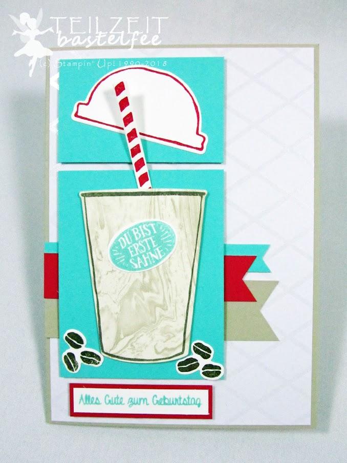 Stampin' Up! - Inkspire_me, Sketch Challenge, Persönlich überbracht, Hand Delivered, Kaffee Olé, Coffee Café, Birthday, Geburtstagskarte