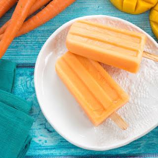 Carrot Mango Frozen Yogurt Pops
