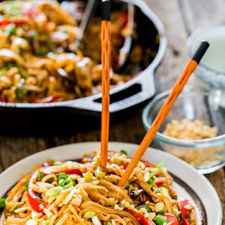 Spicy Thai Noodles And Chicken Recipes.