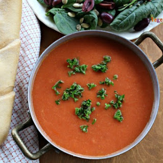 Creamy White Bean Tomato Soup - perfect for any time of the year!