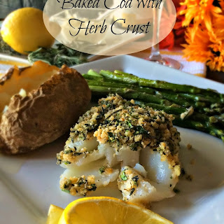 Baked Cod with Herb Crust
