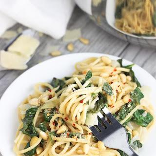 Creamy Lemon Spinach One-Pot Pasta.