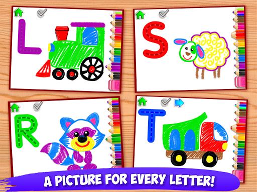 ABC DRAW ud83cudfa8 Kids Drawing! Alphabet Games Preschool  screenshots 10