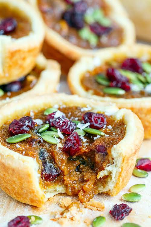 """Pumpkin Butter Tarts with Pepitas and Cranberries """"These pumpkin butter tarts turned..."""