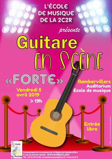 concert forte guitare en scène ecole de musique de la 2c2r
