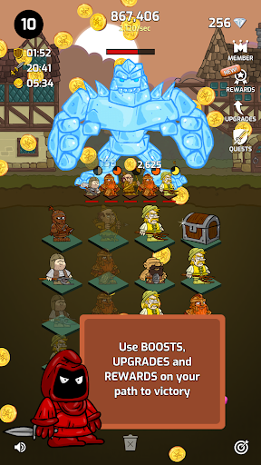 Merge Wars - Idle Hero Tycoon apkmind screenshots 22