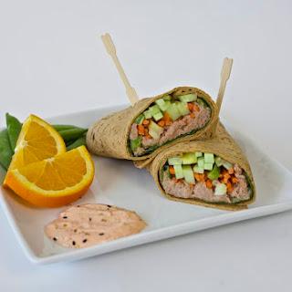 Spicy Tuna Wrap - Healthy Lunch Idea.