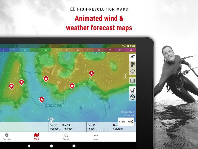 Windfinder Pro - weather & wind forecast Screenshot 5