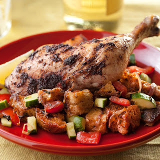 Sumac Chicken with Bread Salad