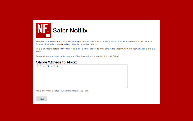 Safer Netflix