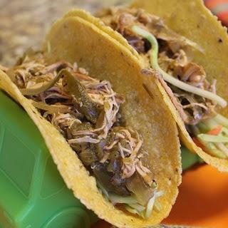 Crockpot Salsa Chicken Tacos.