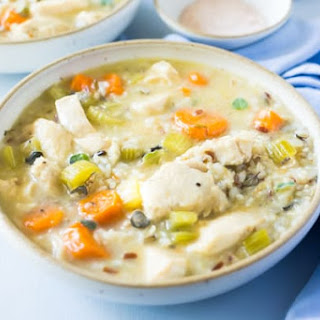 Pressure Cooker Chicken And Wild Rice Soup.