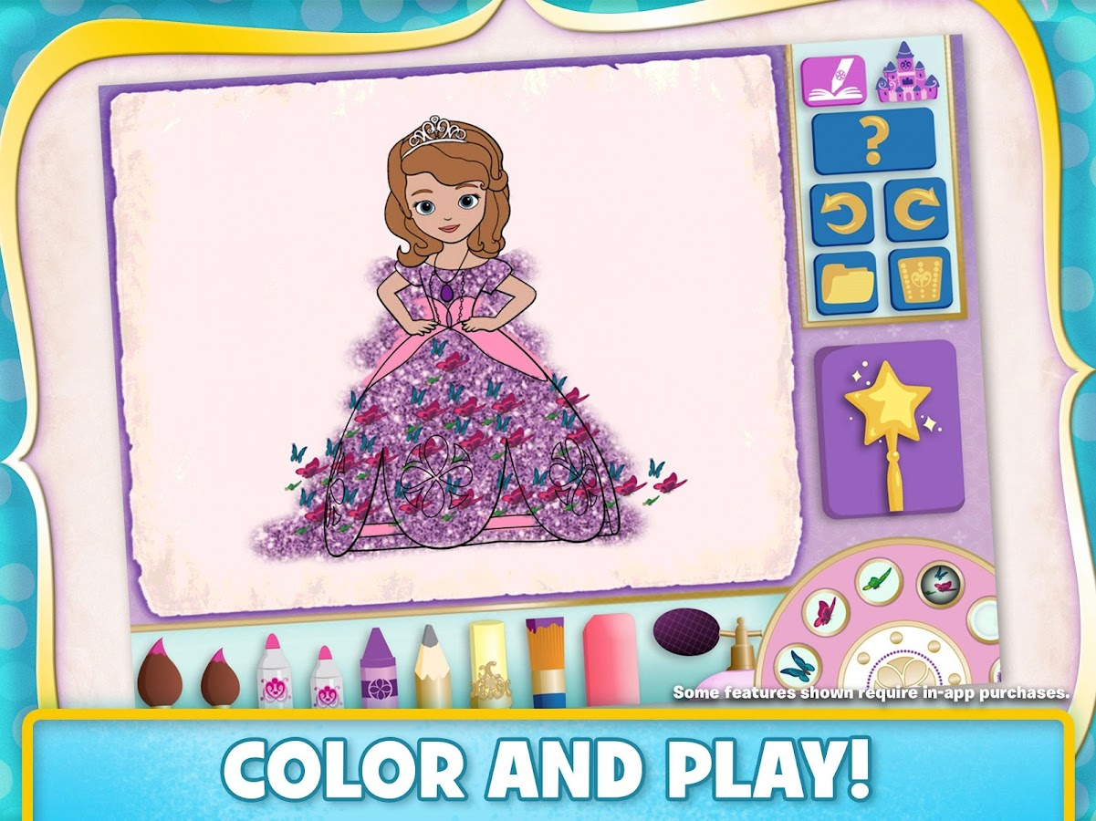 disney color and play screenshot - Good Touch Bad Touch Coloring Book