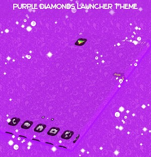 Purple Diamonds Launcher Téma - náhled