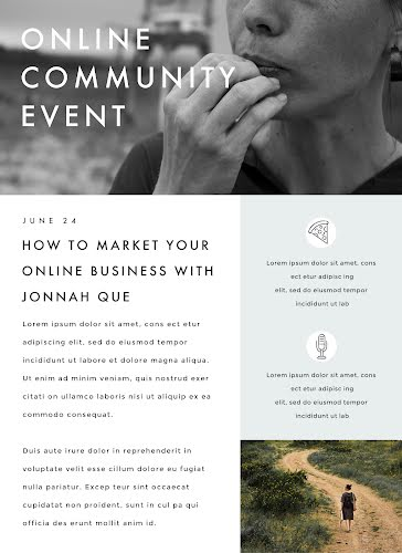 Community Event - Newsletter Template