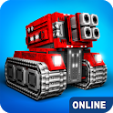 Blocky Cars - tank wars, online games icon
