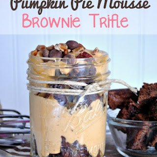 Pumpkin Mousse Brownie Trifle
