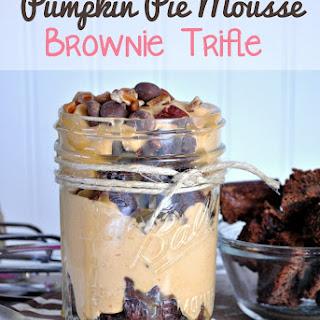 Pumpkin Mousse Brownie Trifle