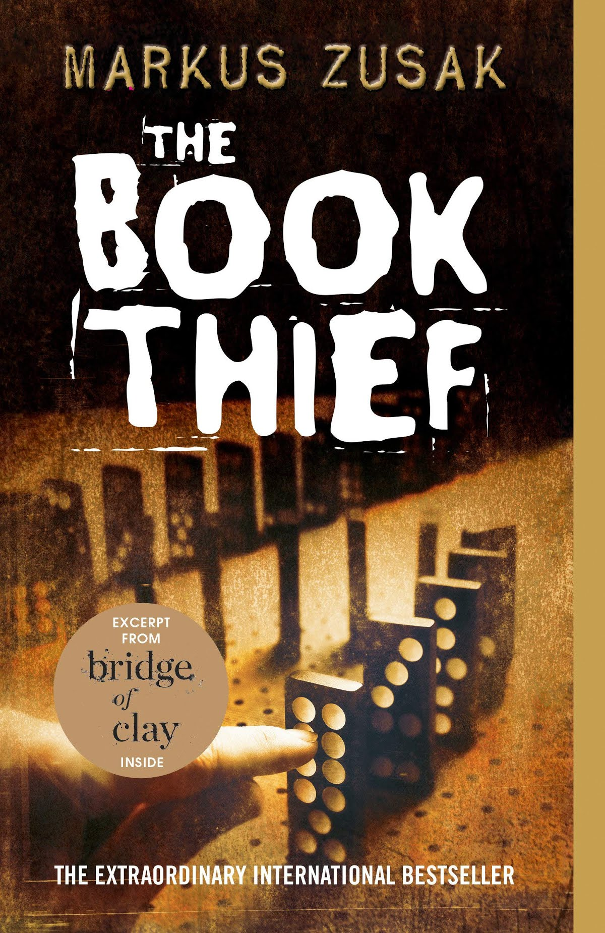 Cover of The Book Thief published in 2007. ( source: https://www.amazon.com/Book-Thief-Markus-Zusak/dp/0375842209 )
