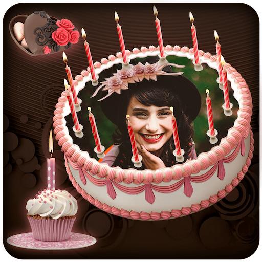 Cake GIF Photo Frame