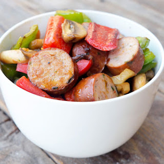 Low Carb Sausage And Vegetable Skillet.