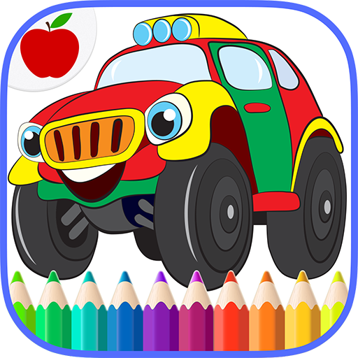 Cars Trucks Kids Coloring Book