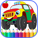 Voitures camions Coloring Book icon