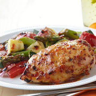Grilled Chicken with Savory Summer Vegetables.