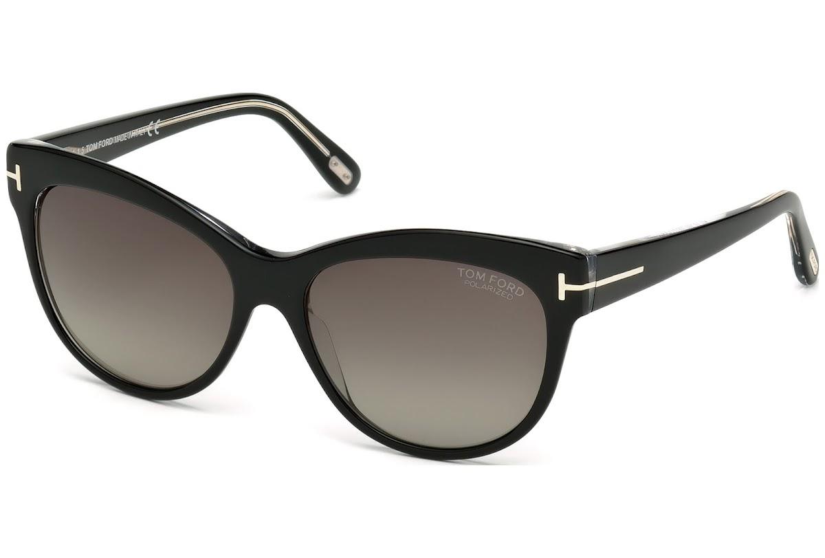 f0670bf4e1b Polarized Sunglasses Tom Ford Lily FT0430 C56 05D (black other   smoke  polarized)