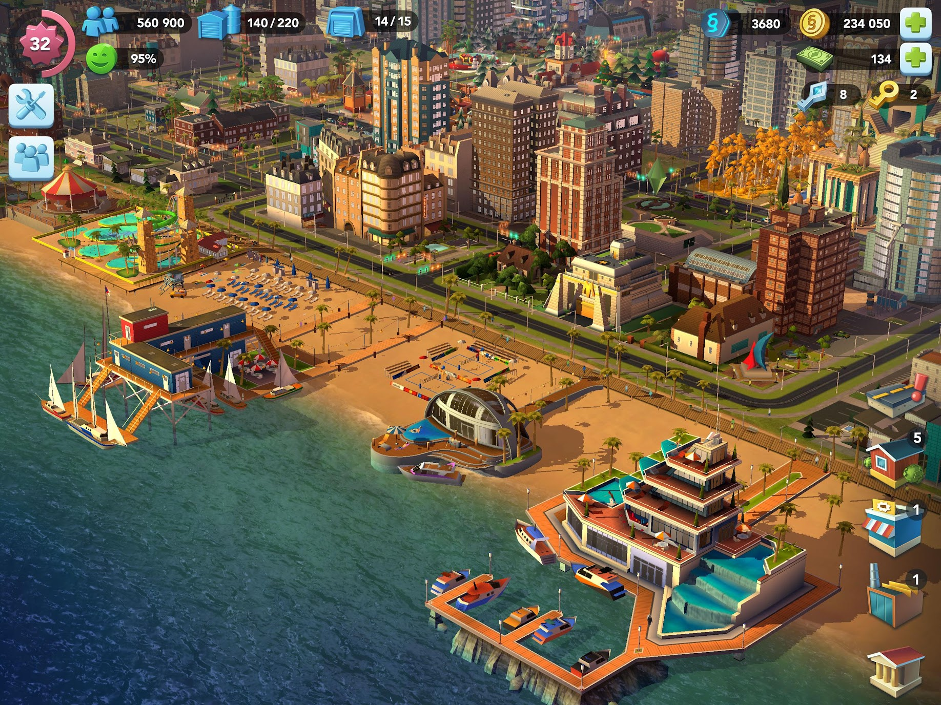 Simcity Buildit Mod Apk (Unlimited Money/Coins/Keys) Latest Version 6