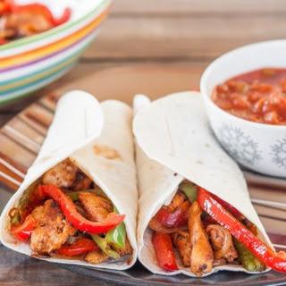 Easy Chicken Fajitas.
