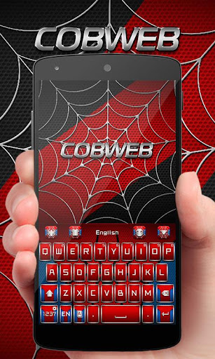 Cobweb Hero GO Keyboard Theme 4.5 screenshots 1