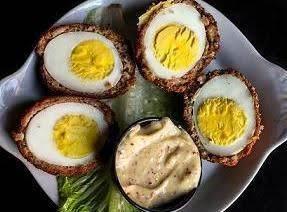 Scotch Eggs With Mustard Sauce Recipe