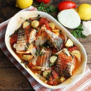 Portugese-style Baked Rockfish