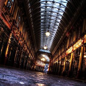 by Jade Newman - City,  Street & Park  Markets & Shops ( market, hdr, night, evening, leadenhall market )