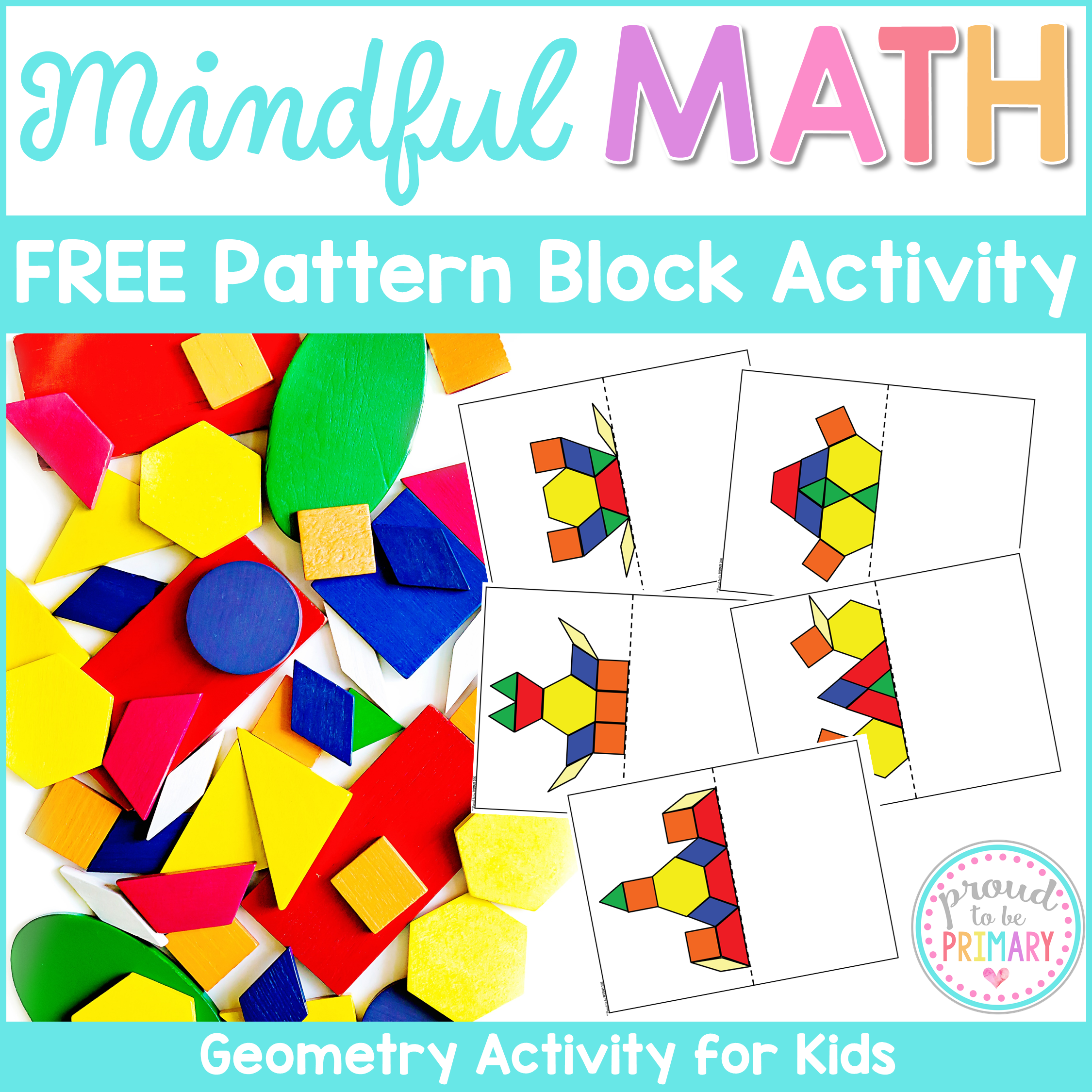 mindful math free pattern block activity