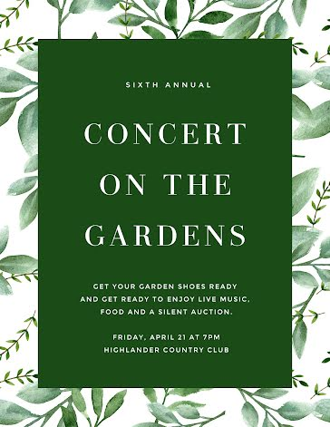 Concert on the Gardens - Flyer Template
