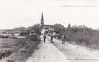 Photo: Orgueil (82) - l'entrée du village en venant de Nohic - Carte non voyagée prise en début des années 1900