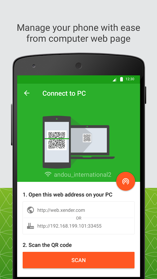 Screenshots of Xender for Android