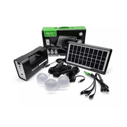 Kit lanterna cu panou solar, 3 becuri LED SMD, GDLITE-1