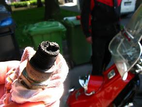Photo: ..erstaunlich, dass der Roller damit noch gelaufen ist..